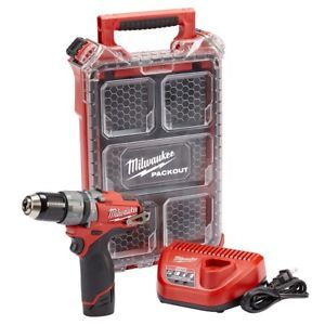 a milwaukee 2404 21p m12 fuel 12 hammer drill driver kit with packout bit case