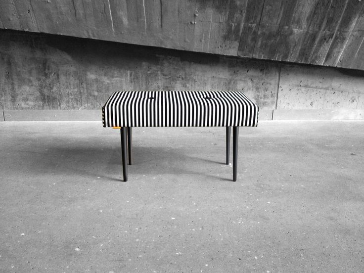 BENCH | take a seat | stripe with black lacquer legs www.benchtakeaseat.com