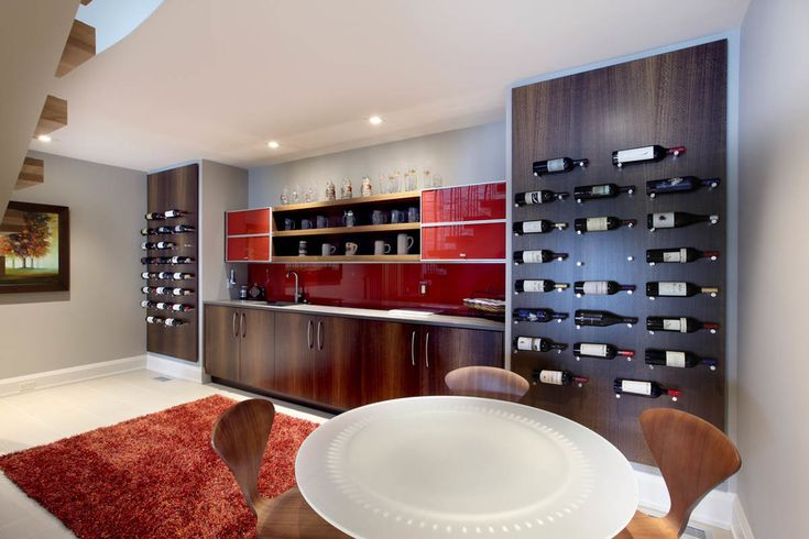 grand rapids modern wine racks with contemporary office chairs home bar and cabinetry red backsplash