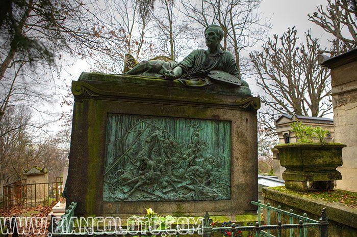 Париж, Кладбище Пер-Лашез Жан Луи Андре Теодор Жерико.