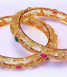 Buy FINE Cz RUBY EMERALD BANGLE bangles-and-bracelet online