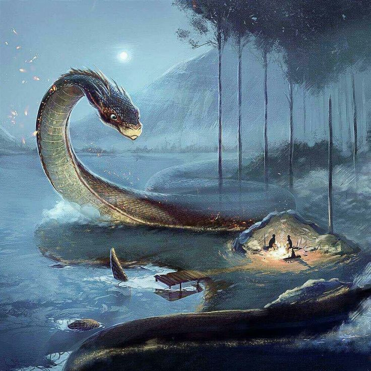 Giant, majestic serpent
