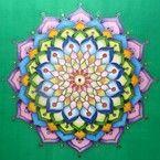 """Mandala painted on silk - Hedvábné mandaly (malba na hedvábí) """"Síla křehké Krásy"""""""