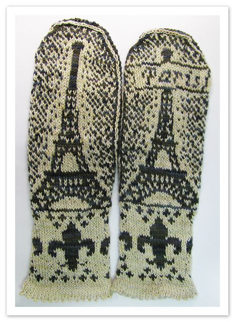 Paris mittens! Just......wow! Brenda should totally make these for us!
