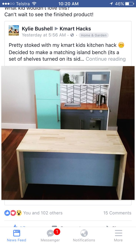 kmart wooden kitchen instructions