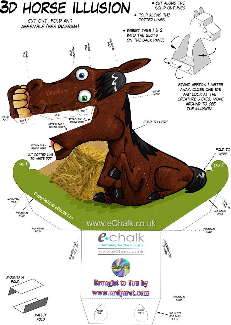 Uau! Veja o que temos para Cavalo 3D de Papel que Mexe a Cabeça