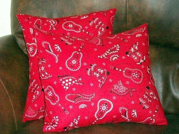 pillows...actually you could sew 2 bandanas together for pillows