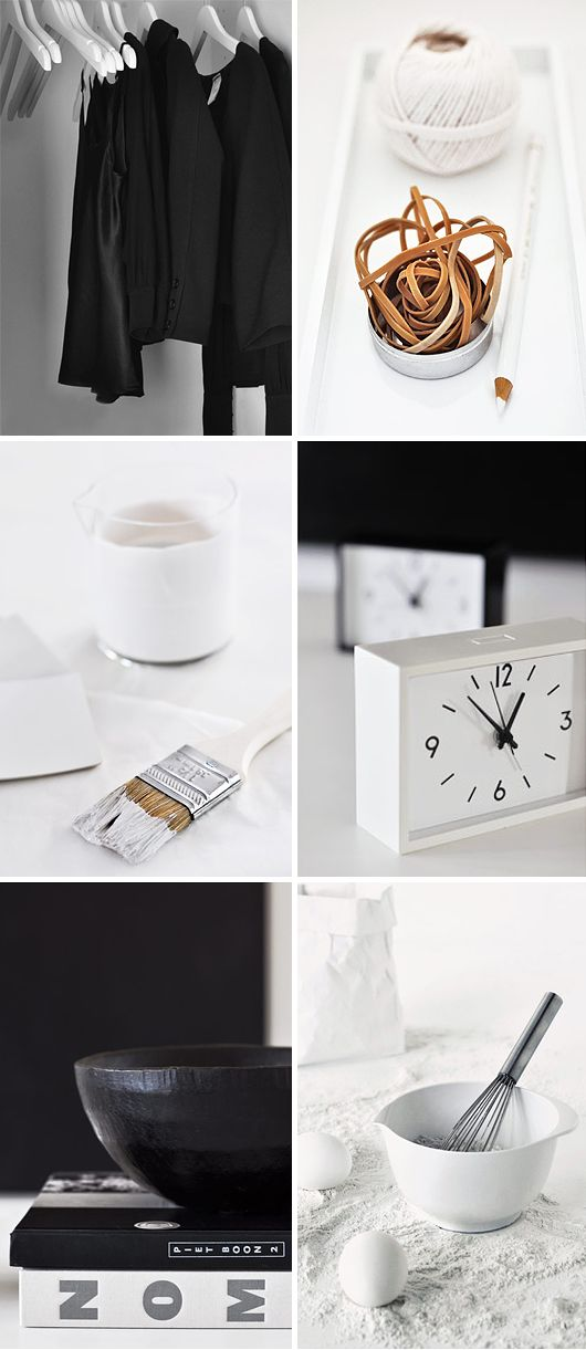 Black and White / Scandinavian graphic interior design style