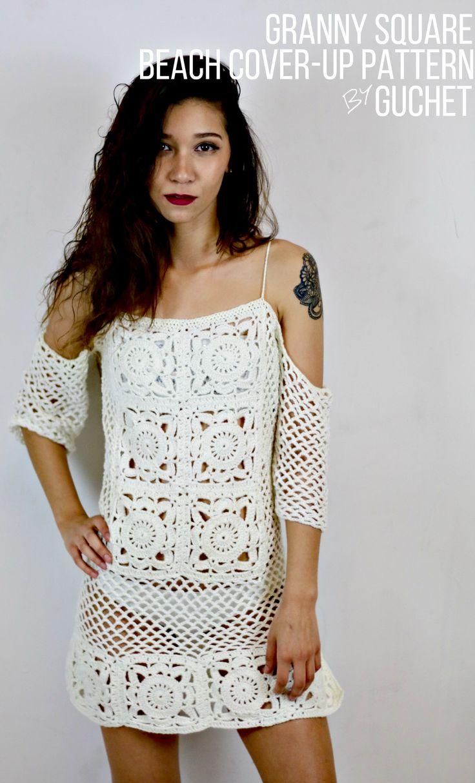 16 best crochet swimsuit cover pattern images on pinterest crochet beach cover up pattern bankloansurffo Images