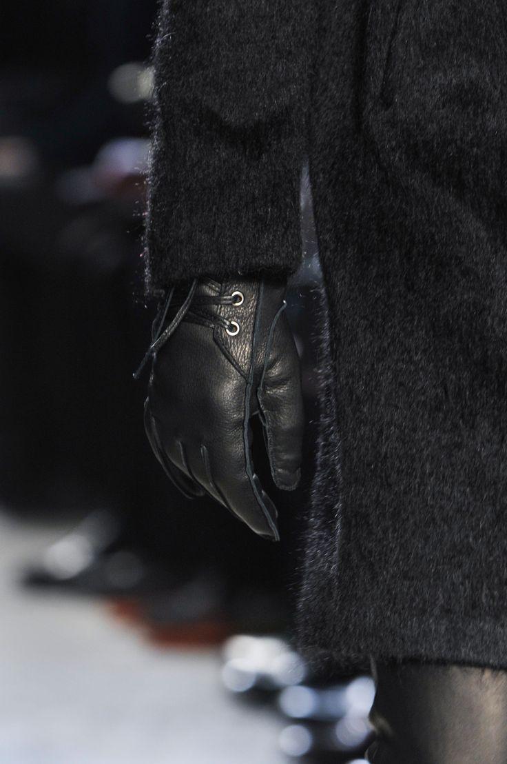 John varvatos leather driving gloves - John Varvatos Men S