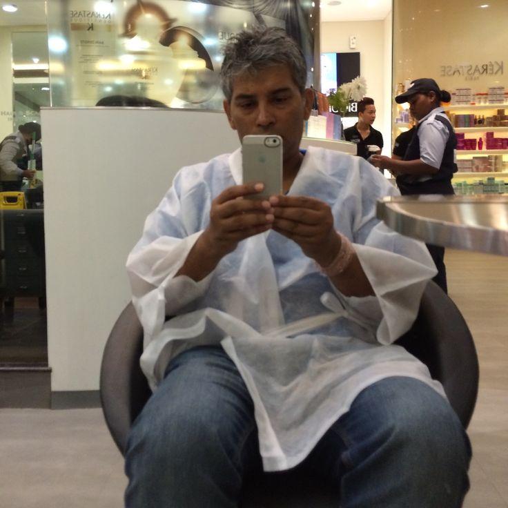 Getting  a haircut..!!