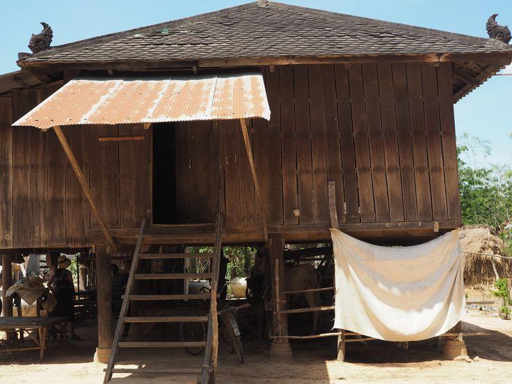 Cambodian silk weaver village