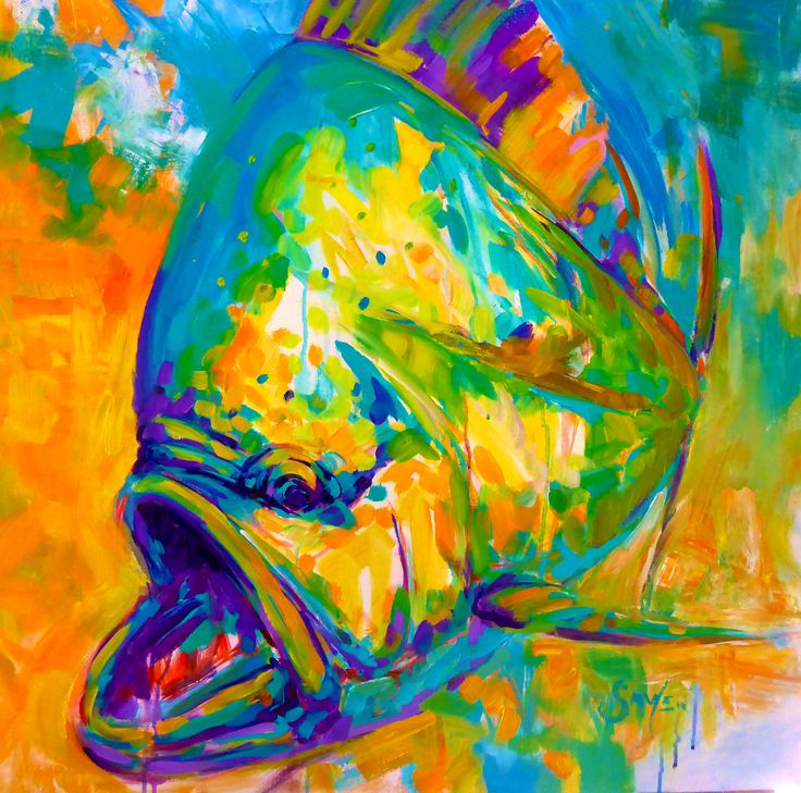 Expressionist Painting Dolphin