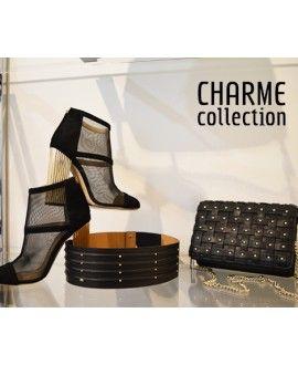 #OUTFIT ELISABETTA FRANCHI. #Tronchetto inserto rete,  #Cintura nera con mini borchie, #Tracolla nera intrecciata. #fashion  #shoes