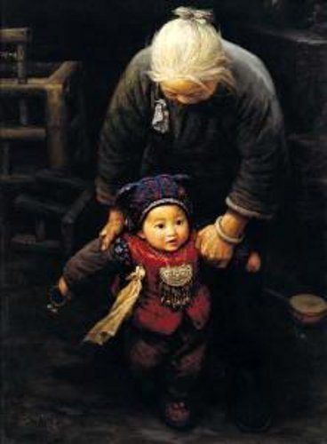 """""""First Step"""" by chinese painter Li Zijian."""