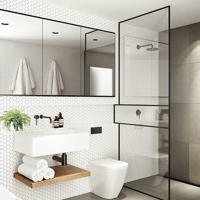 Great Bathroom Design Idea Inspiration For Really Like The Shower Screen  And The Tiles #bathrooms