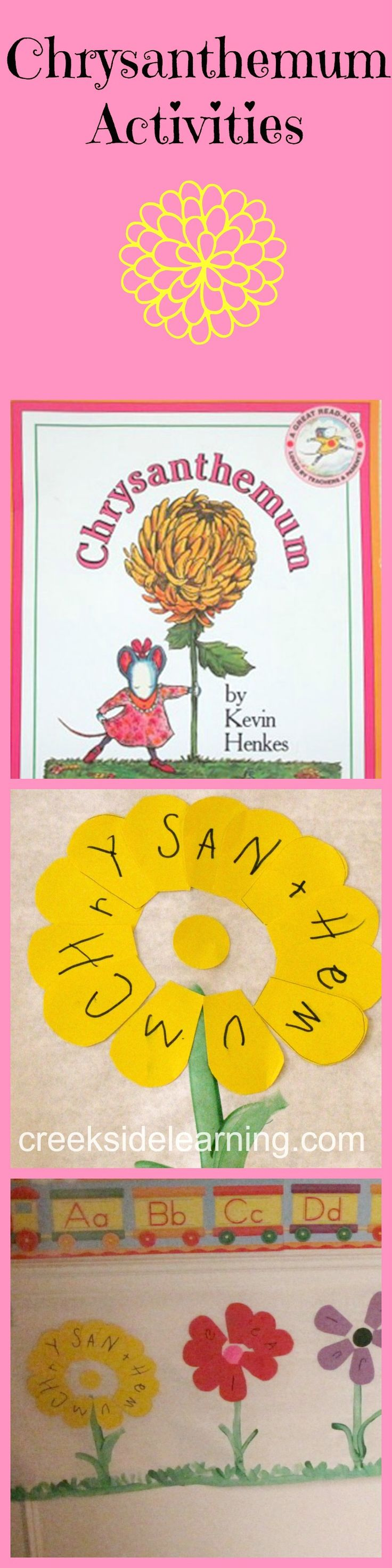 Activities to go with the book Chrysanthemum by Kevin Henkes. Teaching children to appreciate differences and celebrate uniqueness. #ece #teacherresources #planning