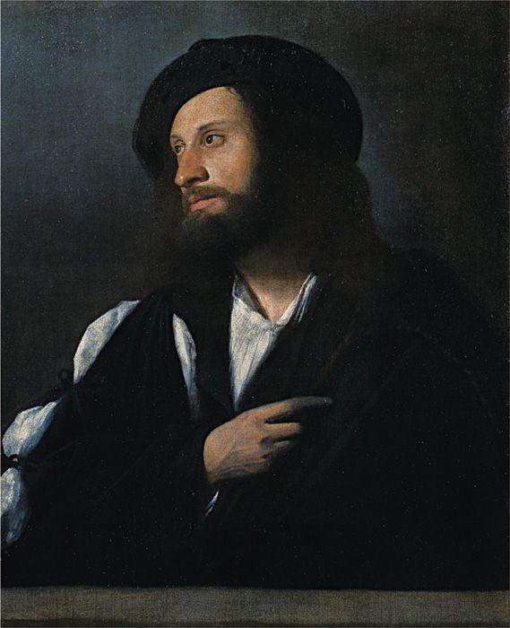 カリアーニ(本名ジョヴァンニ・ブージ)『男の肖像』 油彩、カンヴァス アカデミア美術館
