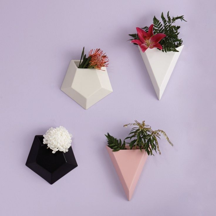 Black Pentagon Wall Planter Medium | Planters | Homeware - Me and My Trend