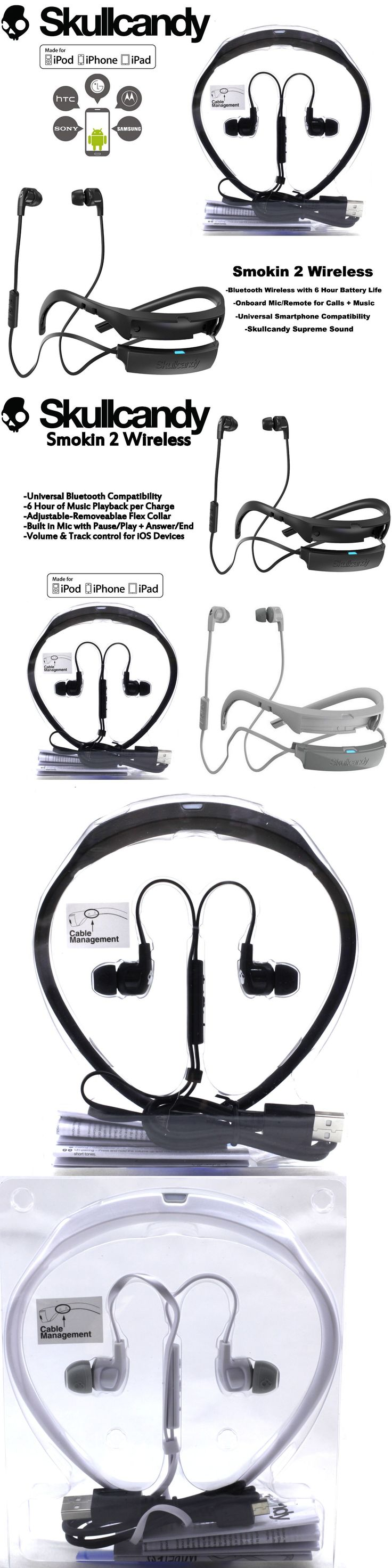 electronics: Skullcandy Smokin Buds 2 Wireless Bluetooth Earphones With Mic Black White New -> BUY IT NOW ONLY: $31.97 on eBay!
