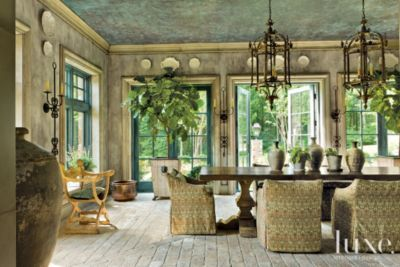 Traditional Neutral Informal Dining Room | Dining Rooms | LUXE Source