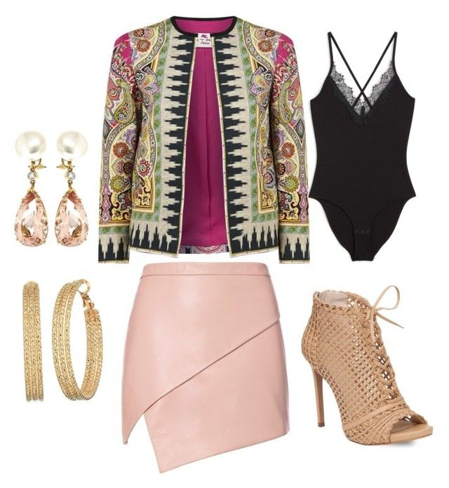 """""""Show time"""" by lestariani on Polyvore featuring Etro, Michelle Mason, Monki, Jessica Simpson, GUESS and Valentin Magro"""