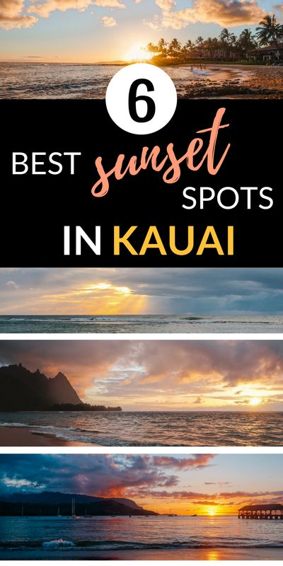 Best sunsets in Kauai