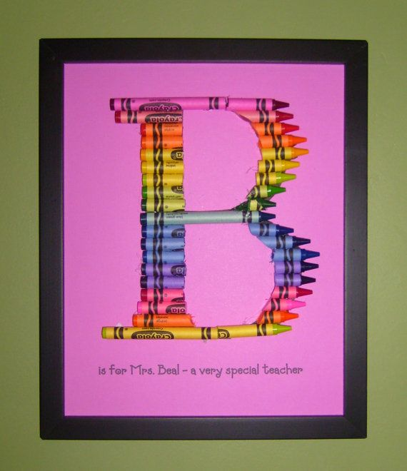 Crayon letter art -- MOPS? [note: get crayons cheap during school supply sales]