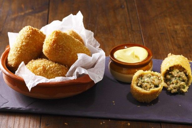 Impress your friends with Dani Venn's delicious Dutch beef croquettes with hot English mustard mayo.