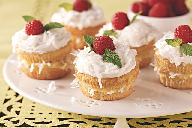 Love coconut cream pie but don't like to share? You can enjoy the same flavors in these cupcakes, filled with a luscious mixture of coconut and pudding.