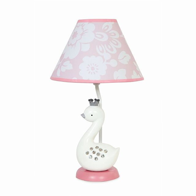 Swan lamp for a baby room. Check out the post for other swan baby nursery decorating ideas!