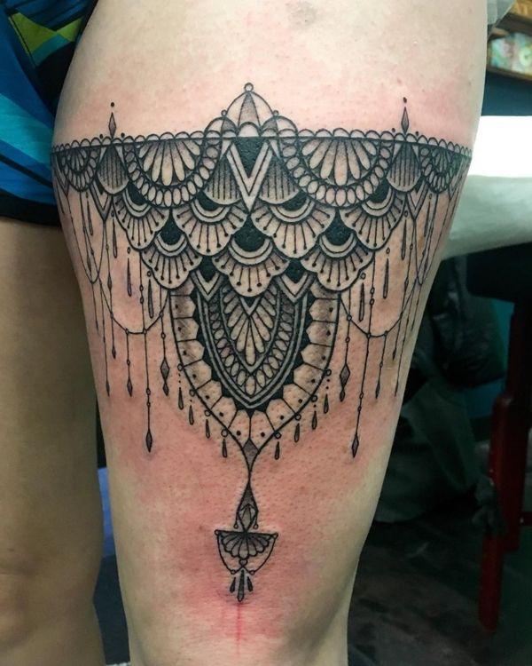 Mandala Garter Tattoo : mandala, garter, tattoo, Garter, Tattoo