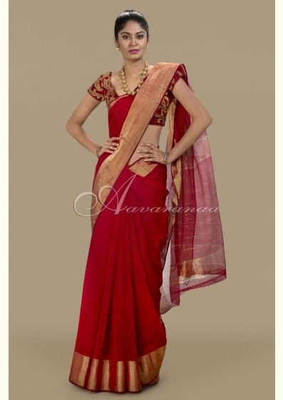Purchase your favortie saree as designer chanderi saree at Aavaranaa. Apart from that, you can buy different types of sarees such as Tussar, Matka silk, Chiffon, Crepe, Soft silk and lots of.