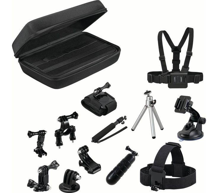 Buy GOJI GAGOPRO15 GoPro Accessory Kit - Black, Black Price: £79.99 The Goji GAGOPRO15 GoPro Accessory Kit is your complete collection of GoPro-compatible accessories - it works with all GoPro models and is contained in one durable carry case for your convenience. Ideal for action sports Into mountain biking, skiing, snowboarding, cycling, rafting, off-roading or other extreme...