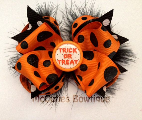 Best 25 Halloween Hair Bows Ideas On Pinterest