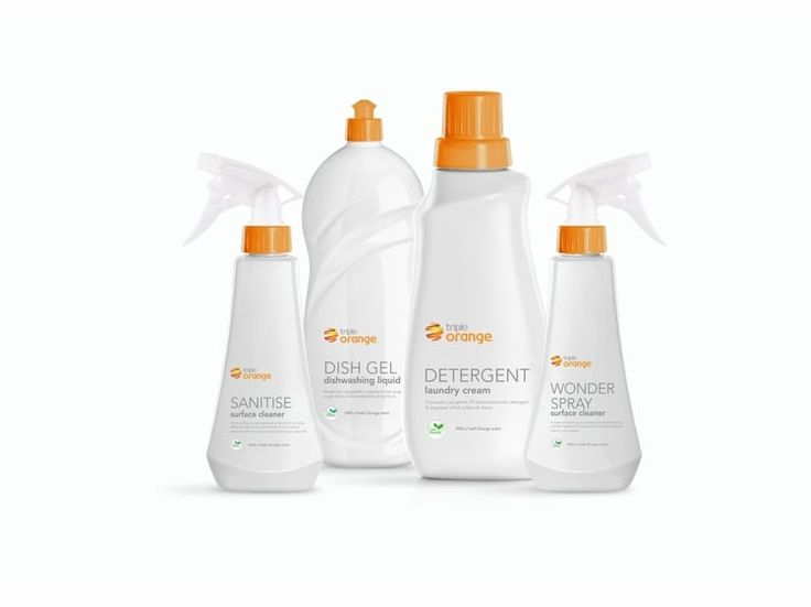 Orange Cleaning Products