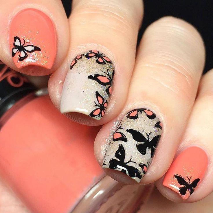 Halloween Pumpkin Ghost Cute Cat Butterfly Nail Art ...