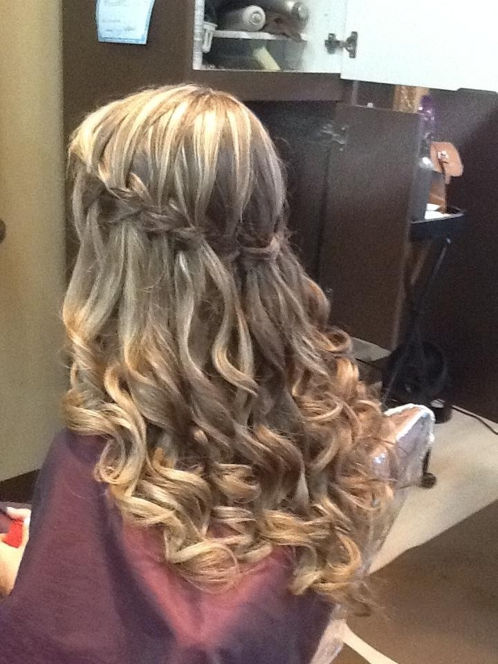 Cascade braid, long hair - Great formal hair style ...