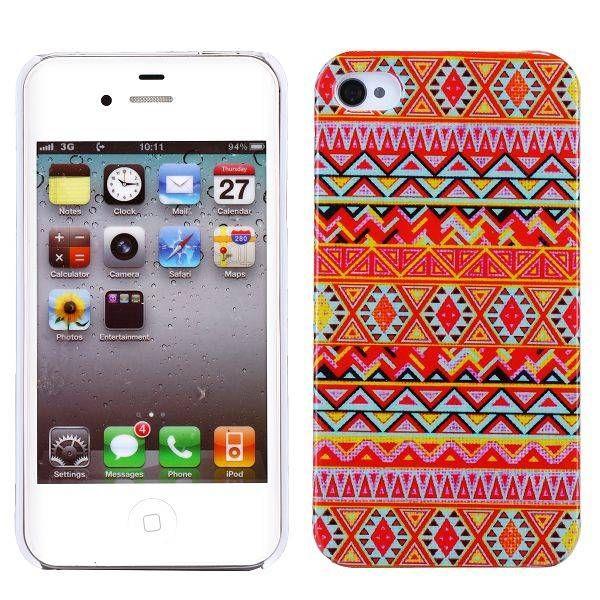 Indianen stijl hardcase hoesje voor de iPhone 4 / 4s
