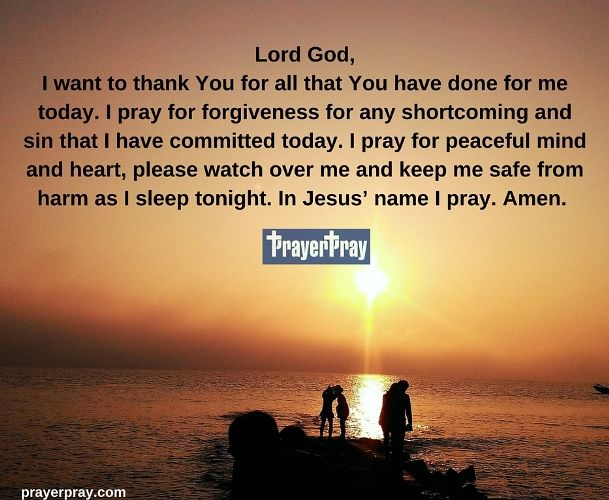 Prayer Before Going To Bed