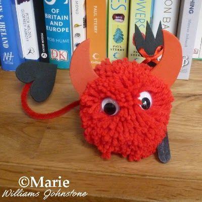 halloween devil crafts - Buscar con Google