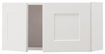 Akurum Fan Cab/Top Cabinet to Refrigerator, Birch, Ädel White - traditional - kitchen cabinets - IKEA
