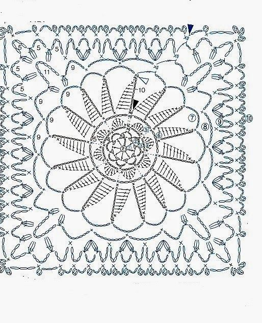 1000  images about cuadritos crochet on pinterest