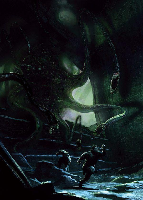 Lovecraft's World by marc simonetti, via Behance http://art.marcsimonetti.com/127814/1270529/illustration/lovecrafts-world