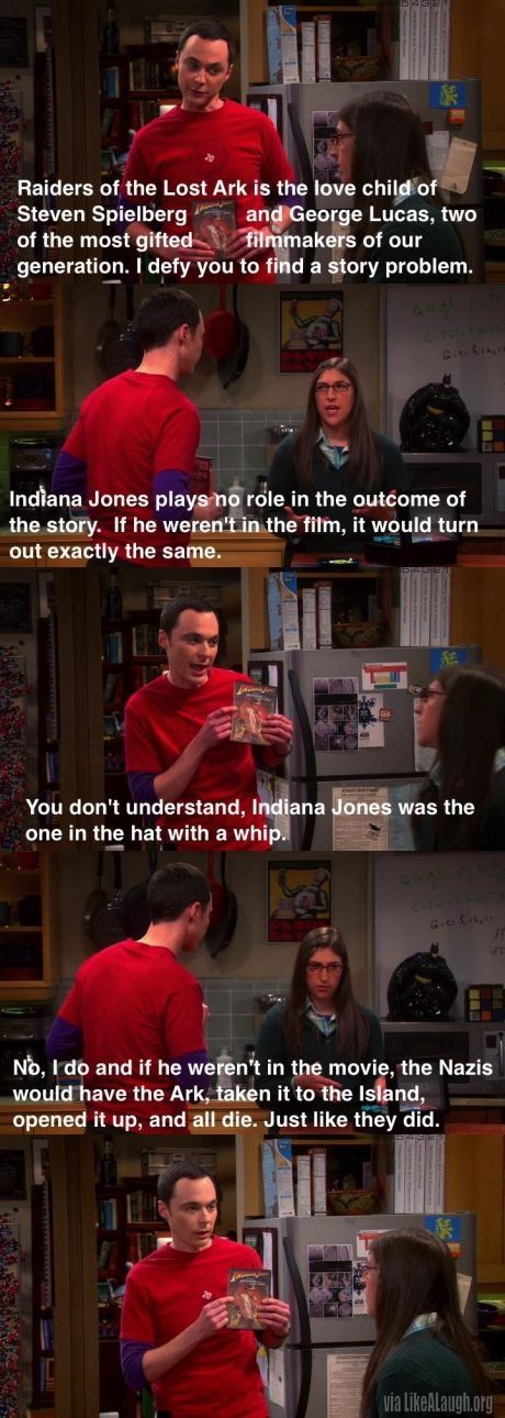 How Amy ruined Raiders of the Lost Ark for Sheldon