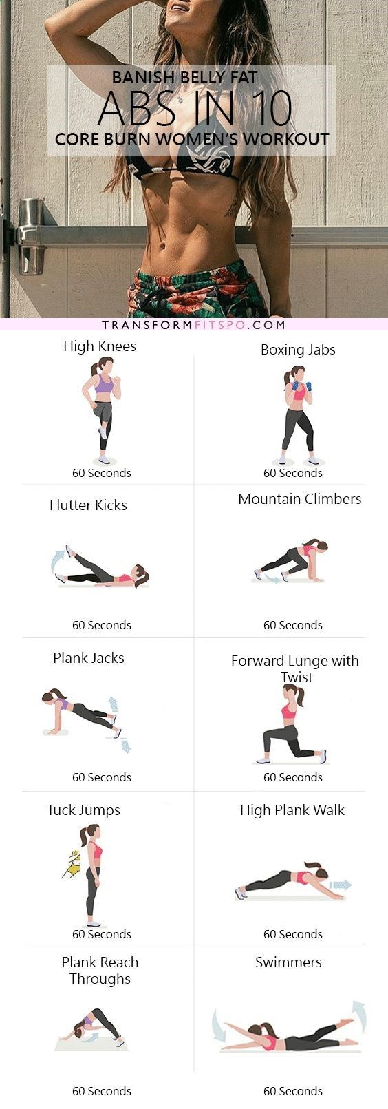 Repin and share if you easily shifted belly fat with this crazy effective workout! Read the post for the full workout.