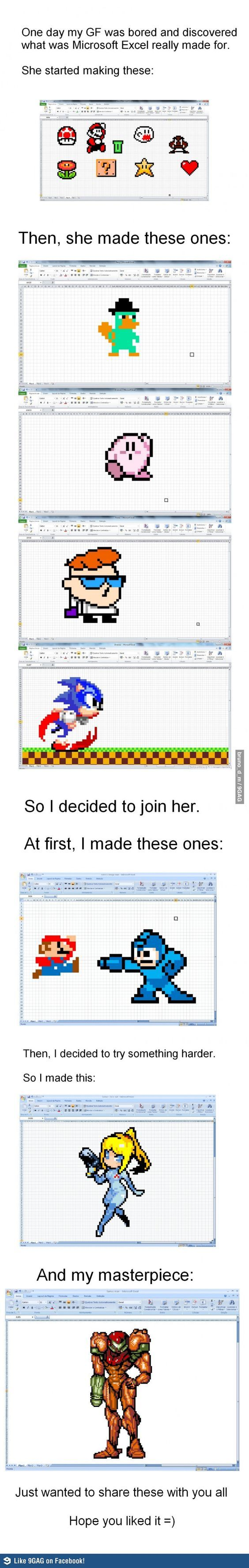 excel video games