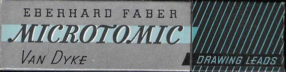 Vintage Mid Century Art Supplies Eberhard Faber Microtomic