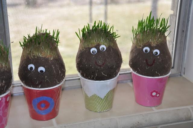 cute nylon grass heads that look like the potato grass heads