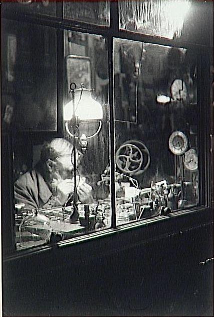 Brassaï Watchmaker, Rue Dauphine, Paris c.1930